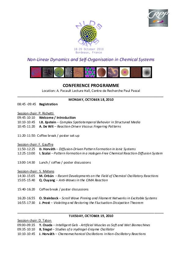 2010 Bordeaux - Program