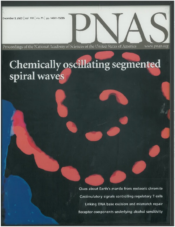 Cover Page of Proc. Natl. Acad. Sci. U.S.A., Volume 100, Issue 25, 9 December 2003
