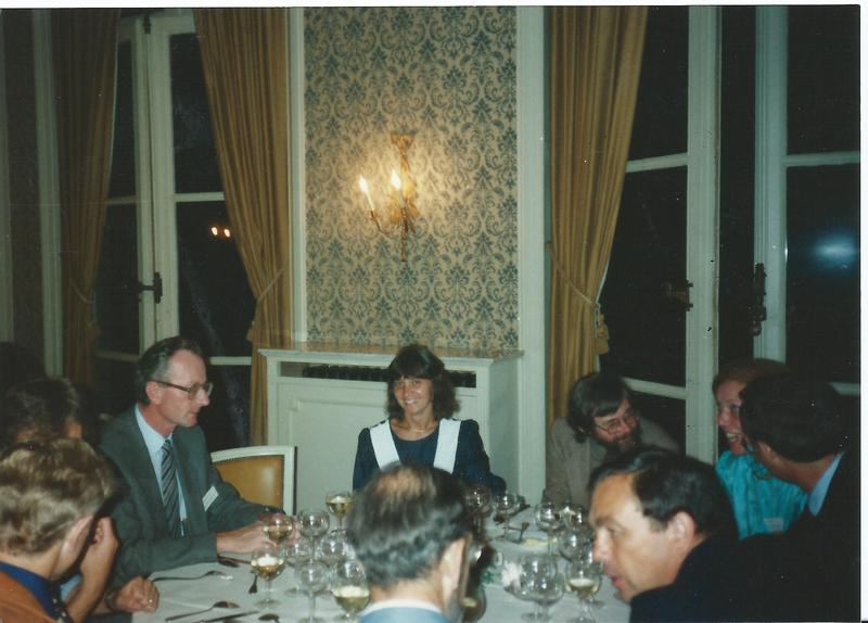 1987 Brussels meeting dinner picture