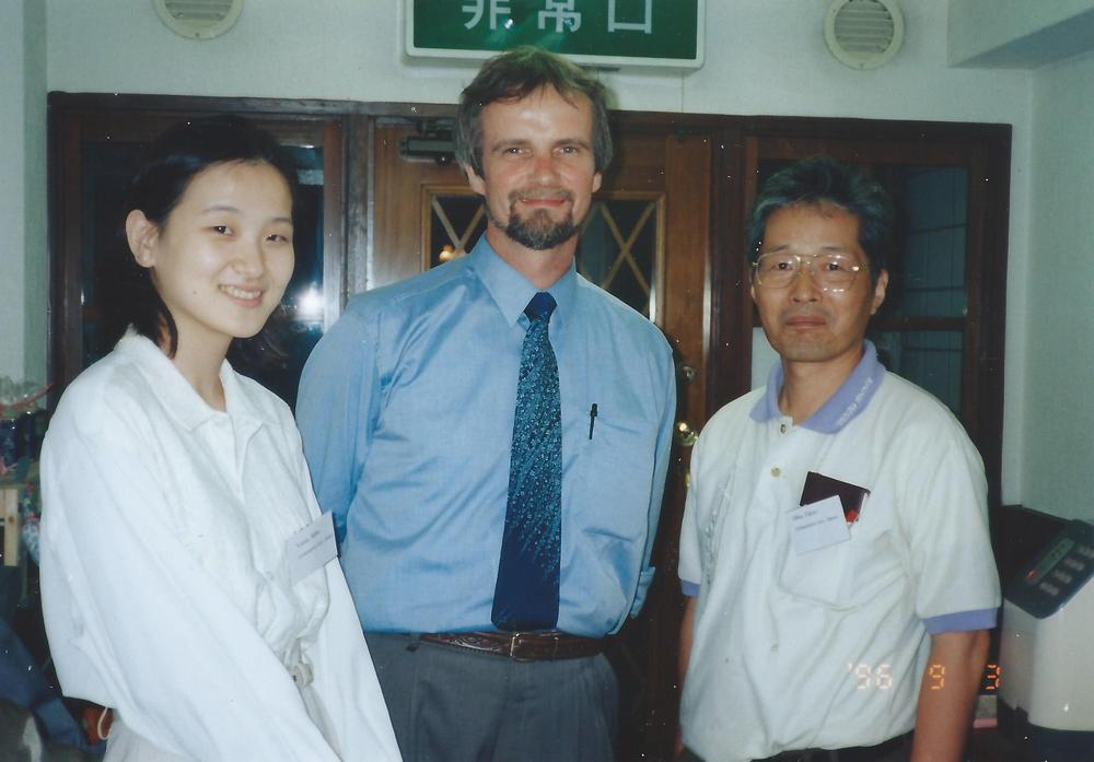 Photo of Stefan Müller and Takao Ohta during the conference in Nara, Japan in 1996