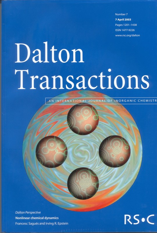 Cover Page of <em>Dalton Transactions: An International Journal of Inorganic Chemistry</em>, Volume 7, 07 April 2003.