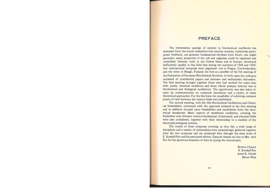 Preface- Chance et al
