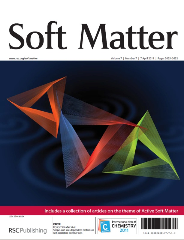 Cover Page of <em>Soft Matter</em>, Volume 7, Issue 7, 07 April 2011