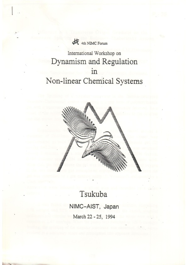 Cover Page of conference in Tsukuba, Japan in 1994