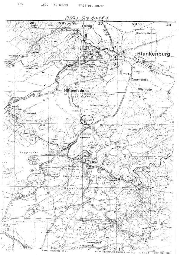 1996 Herbstseminar - Geographic map of the area