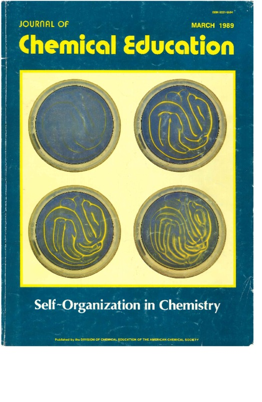 Cover Page of the <em>Journal of Chemical Education</em>, Volume 66, Issue 33, March 1989