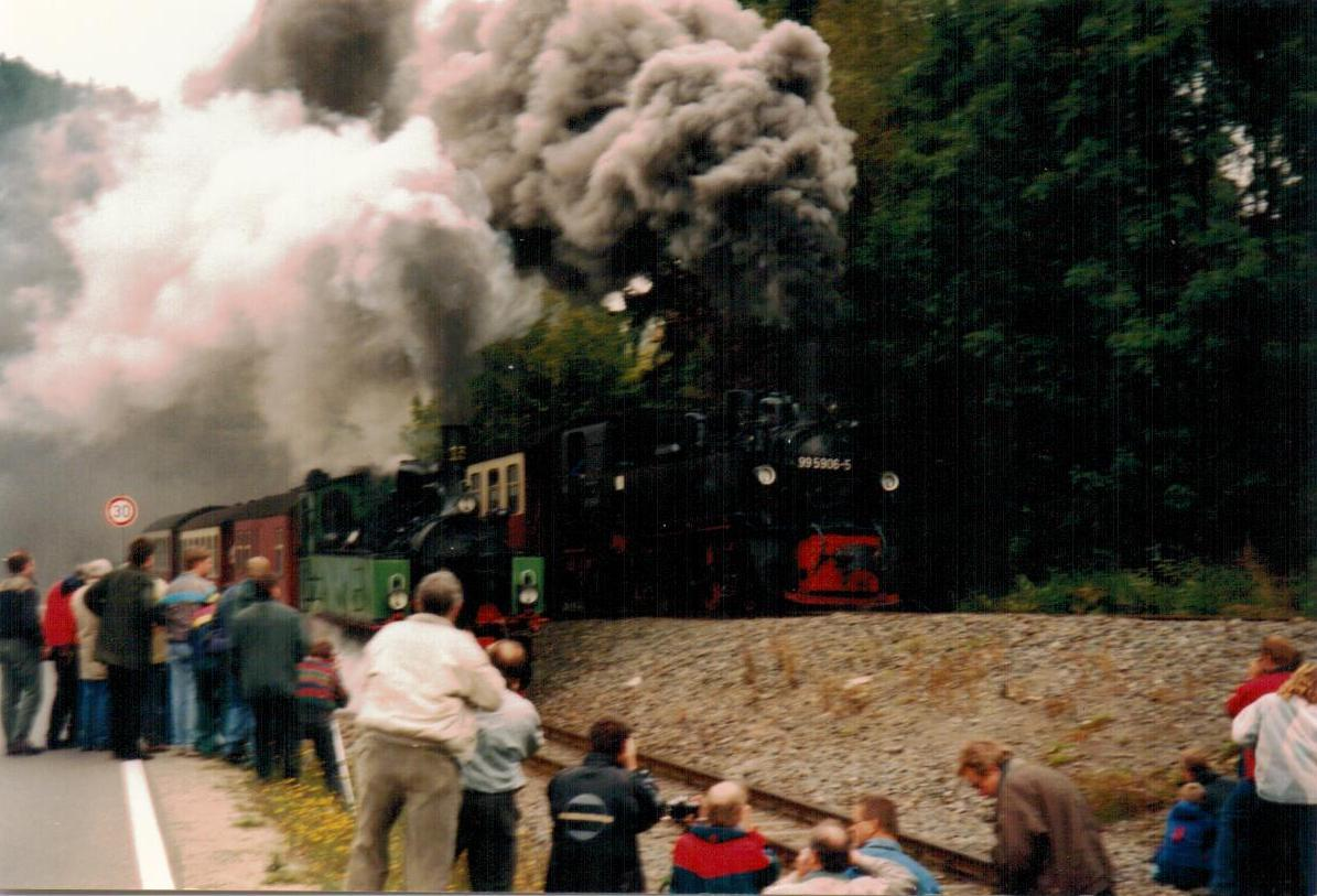 Steam train in Alexisbad 1997