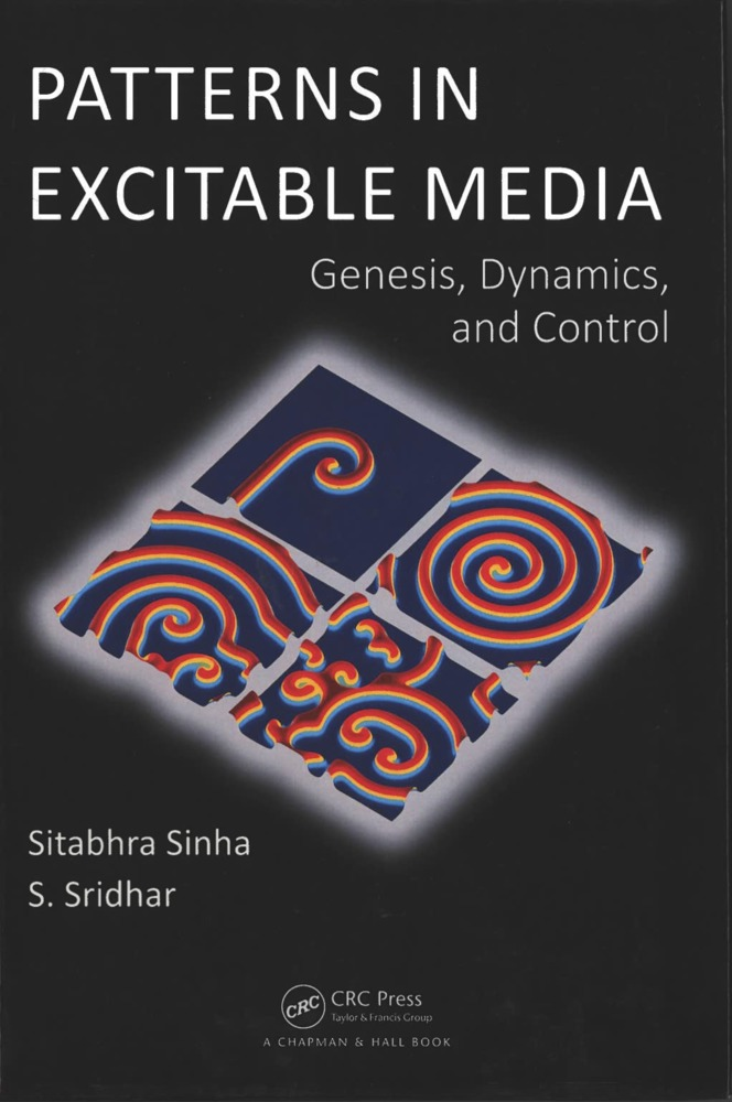 "Cover page of the book ""Patterns in exitable media"" by Sitabhra Sinha and S. Sridhar , 2015."