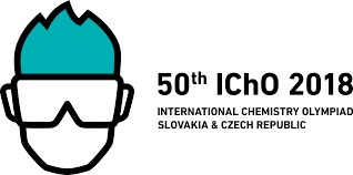 Logo of the 50th International Chemistry Olympiad in Slovakia and Czech Republic, July 19-29 2018