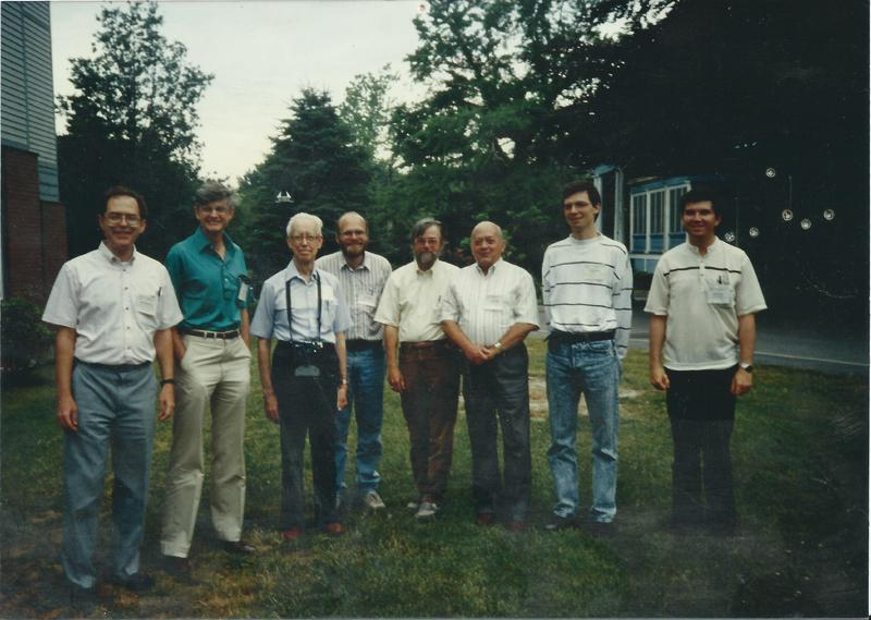 Private photo after Gordon Research Conference: Oscillations & Dyn. Instabilities in Chemical Systems (1991)