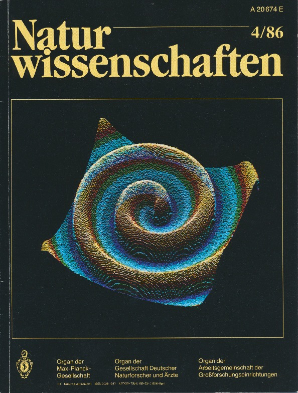 Cover Page of Naturwissenschaften, Volume 73, Issue 4, 1986