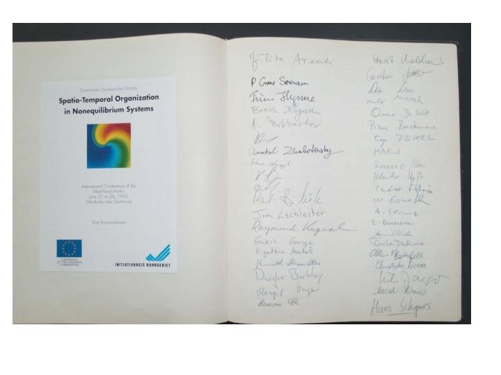 1992 Dortmunder Dynamische Woche - Sign-in-sheets <br /> <br />
