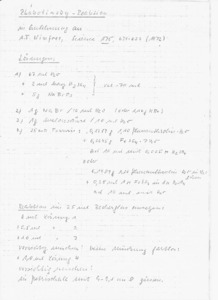 Recipe of BZ Reaction in German