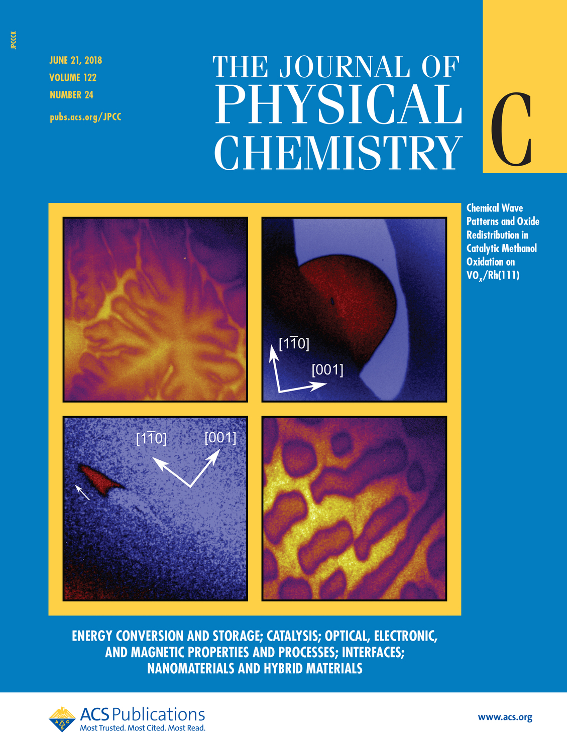 Coverpage of The Journal of Physical Chemistry C Vol.122 Number 24 in June 21, 2018