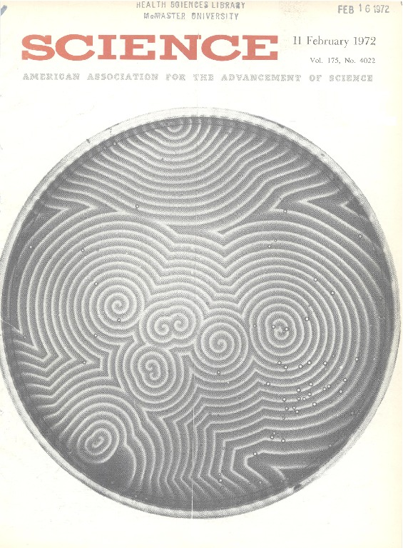 Cover Page of <em>Science</em>, Volume 175, Issue 4022, 11 February 1972.