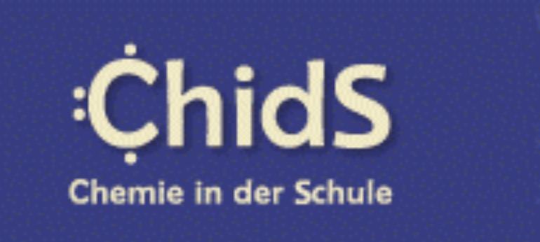 Logo der Webseite Chemie in der Schule an der Philipps-Universität Marburg.