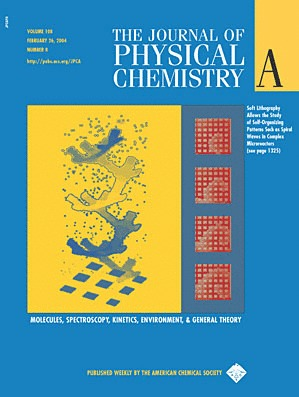 Cover Page of <em>Journal of Physical Chemistry A,</em> Volume 108, Issue 8, 24 February 2004