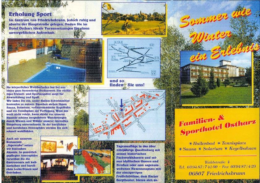 1999 Herbstseminar - Hotel flyer