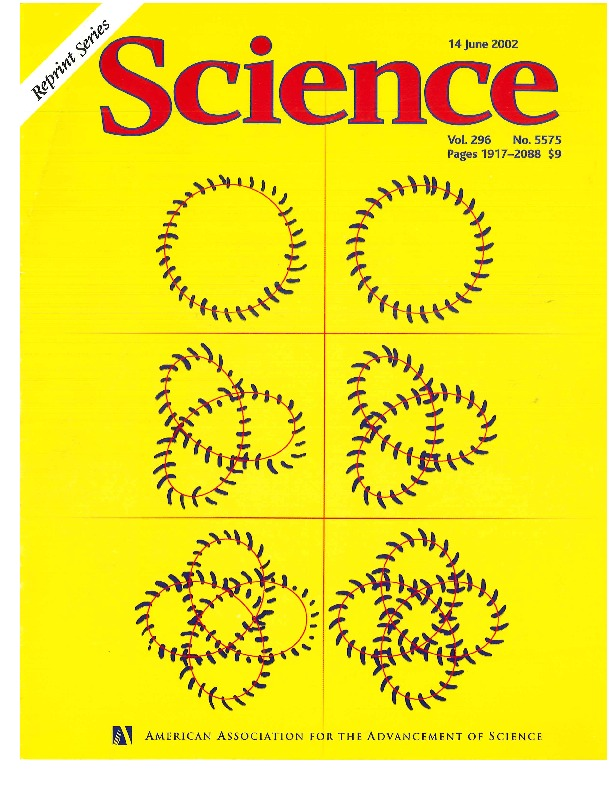 Cover Page of Science, Volume, 296, Issue 5575, 14 June 2002