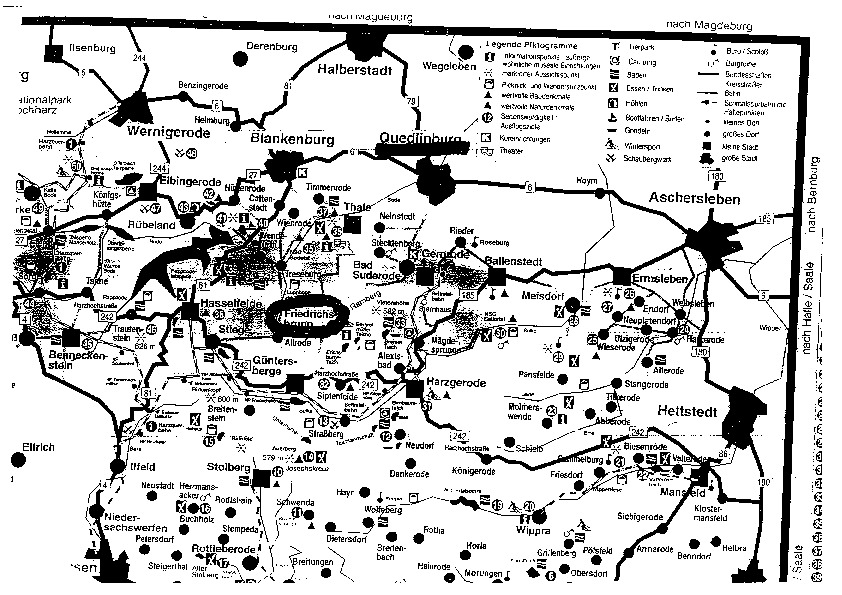 1999 Herbstseminar - Geographic map of the area