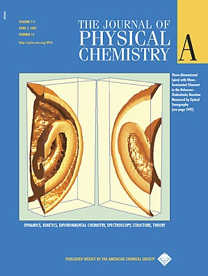 Cover Page of <em>The Journal of Physical Chemistry A,</em>Volume 111, Issue 13, 05 April 2007