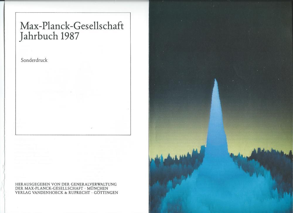 Max-Planck-Gesellschaft Jahrbuch 1987