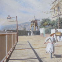 Alfredo Helsby, Paseo Atkinson (Oil on canvas, 1896)