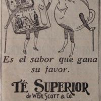 Advertisement: Superior Tea, Weir, Scott & Co.