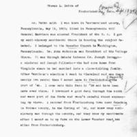 Thomas L. Smith Interview, Sept. 18., 1894