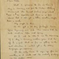 Robert D. Davis Letter from Ingolstadt 1945-10-06